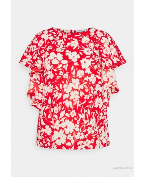 CAPSULE by Simply Be BALLOON CUFF BLOUSE Camicetta red/rosso