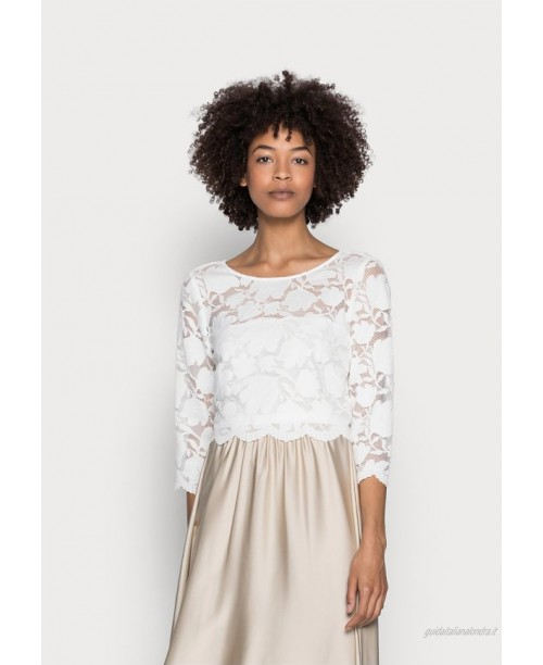 Esprit Collection LACE SHIRT Tshirt con stampa off white/avorio