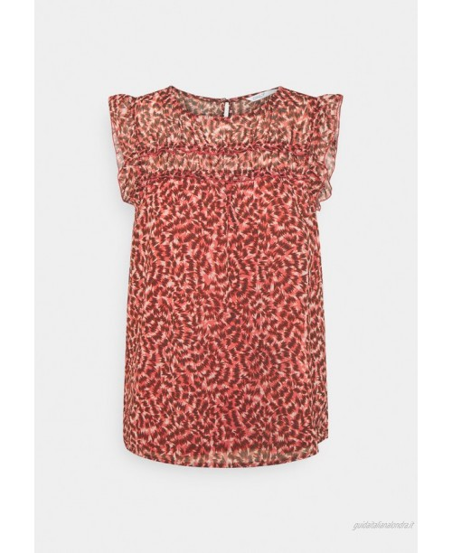 ONLY ONLMARGUERITE CAPSLEEVE  Tshirt con stampa faded rose/sunset/rosa
