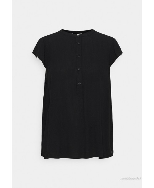 TOM TAILOR DENIM EASY TUNIC WITH NECK DETAIL Tunica deep black/nero