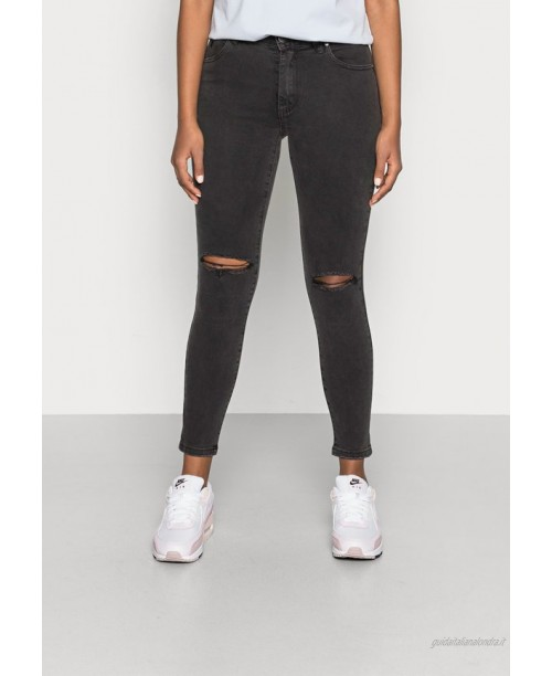 Cotton On MID RISE CROPPED Jeans Skinny Fit washed black/nero