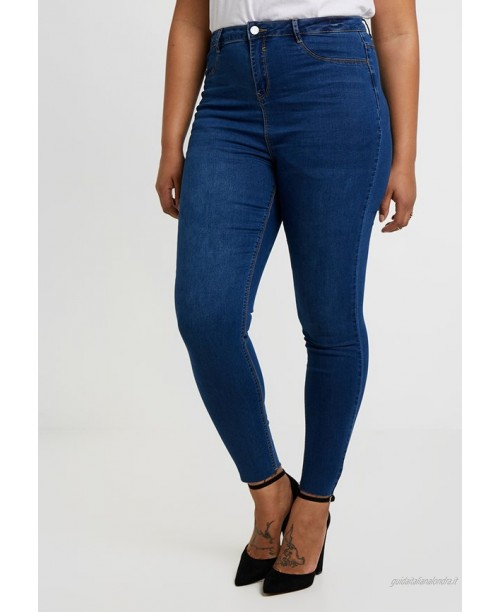Missguided Plus LAWLESS HIGHWAISTED SUPERSOFT Jeans Skinny Fit blue/blu denim