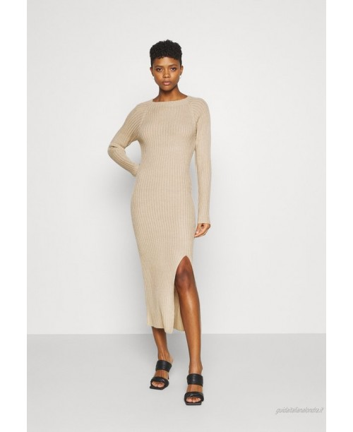 Nly by Nelly TWISTED BACK DRESS Abito in maglia beige