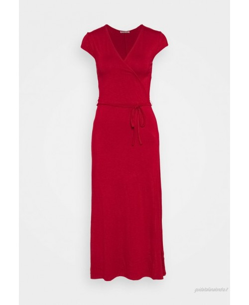 Anna Field Short sleeves wrap belted maxi dress Vestito lungo red/rosso