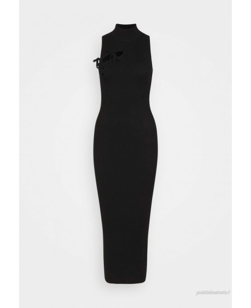 Missguided Tall TIE FRONT HIGH NECK MIDAXI Tubino black/nero